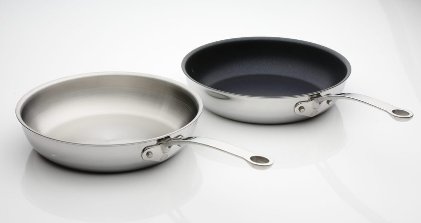 ProWare Stainless Steel Tri-Ply Frying Pans Non-Stick