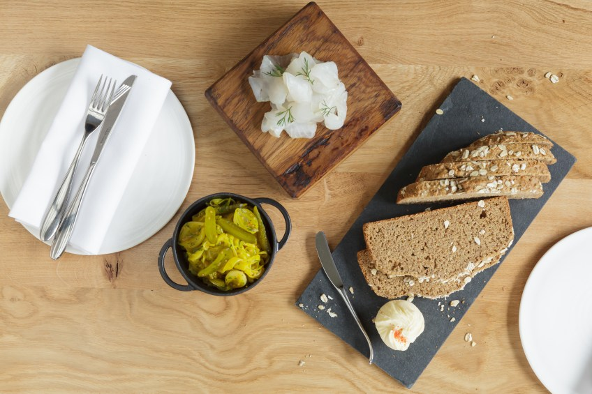 Smoked Halibut with Soda Bread