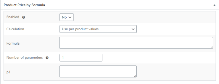 Product Price by Formula for WooCommerce - Admin Settings