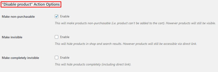 Product Time Countdown for WooCommerce Admin Settings