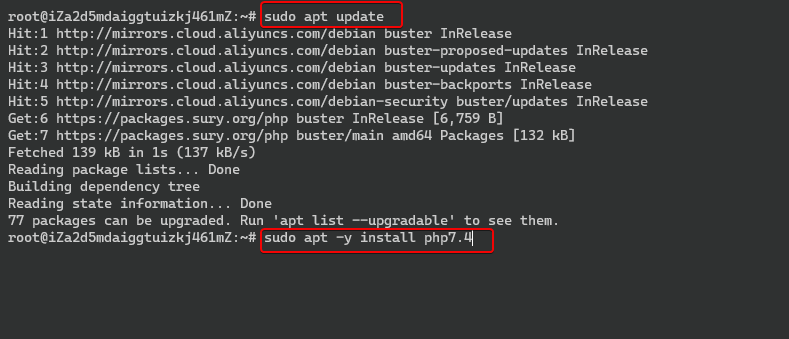 Installing Latest php version 7.4.9