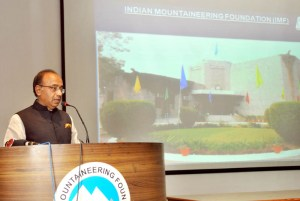 Goel speaking on extending Prime Minister's Swachh Bharat Abhiyan to the Himalayas