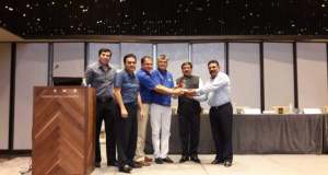 PP Khanna led ADTOI team taking delivery of a Airbus (model) from IndiGo Representatives at a recent interactive meet