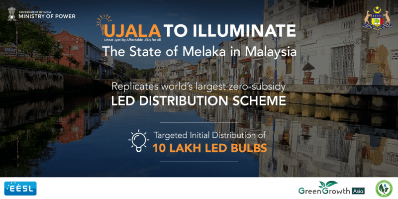 India's zero subsidy 'Ujala' initiative to help save power and environment in Melaka@ Malaysia