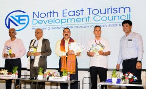 Jitendra Singh releasing the booklets at the inauguration of 'North East Calling' event under 'Destination North-East Series', organised by the Ministry of Development of North Eastern Region (DoNER), in New Delhi on September 09, 2019.
