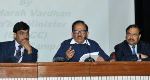 The Union Minister for Environment, Forest & Climate Change, Harsh Vardhan addressing a press conference on Clean Air Campaign in Delhi, in New Delhi on February 08, 2018.