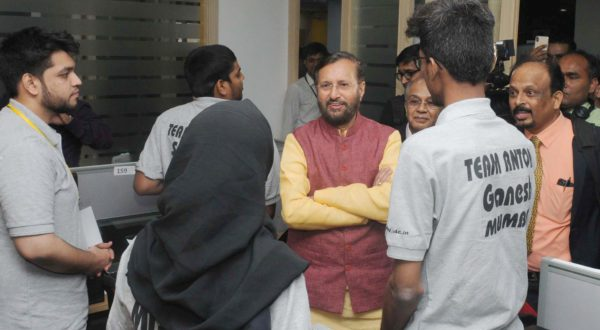 In File Picture- Union Minister for Human Resource Development, Prakash Javadekar is seen at the recent  Smart India Hackathon 2018, in New Delhi on March 30, 2018.