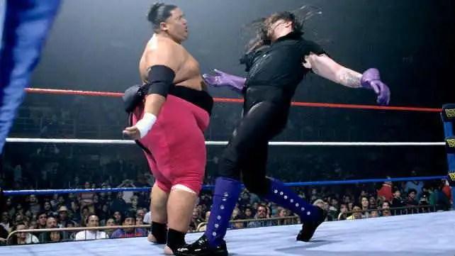Resultado de imagem para the undertaker vs yokozuna