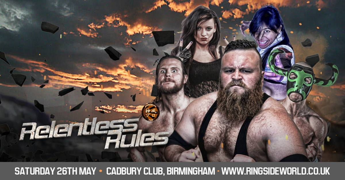 Kamikaze Pro Present's Relentless Rules, 26/05/2018, The Review