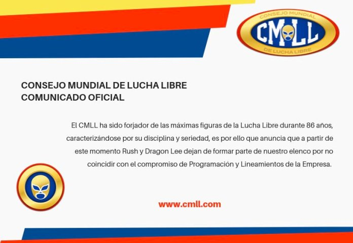 CMLL releases Rush Dragon Lee