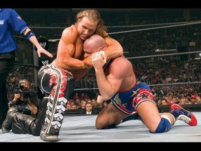 WrestleMania 21 Kurt Angle Shawn Michaels