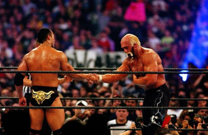 The Rock Hulk Hogan