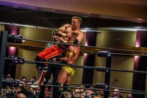 Jayson Strife back suplex on Nick Aldis