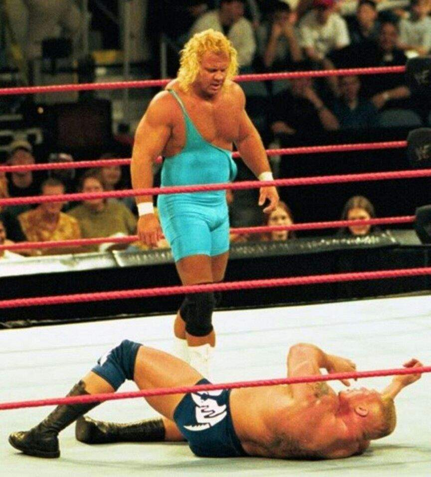 Mr. Perfect and Brock Lesnar right before he was let go from his WWE contractfrom antics on theplane ride from hell