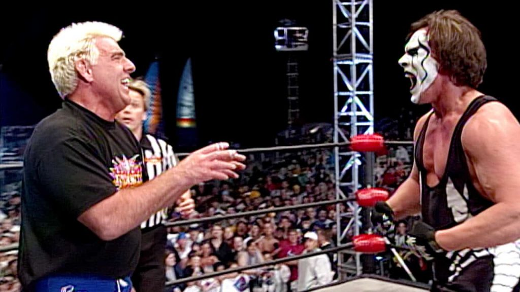 Ric Flair vs Sting, the main event of the final WCW Monday Nitro
