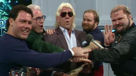 The four horseman years later Tully Blanchard, J.J. Dillon, Ric Flair, Ole Anderson and Arn Anderson