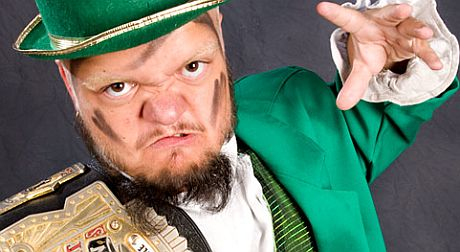 Hornswoggle dressed as a leprechaun