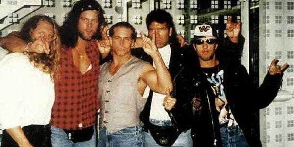 THE KLIQ: Paul 'Triple H' Levesque, Kevin Nash, Shawn Michaels, Scott Hall and Sean 'X'Pac' Waltman