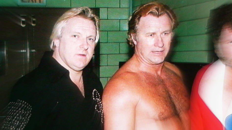 Bobby Heenan with the late Nick Bockwinkel in 1975