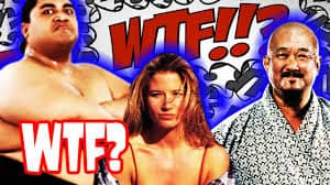 Graffic of Mr. Fuji, Tammy Sytch, and Yokozuna with WTF? on it