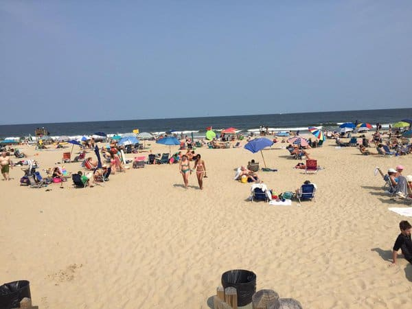 The only job Chris Candido had besides wrestling was making sure this beach in Spring Lake, New Jersey stayed clean