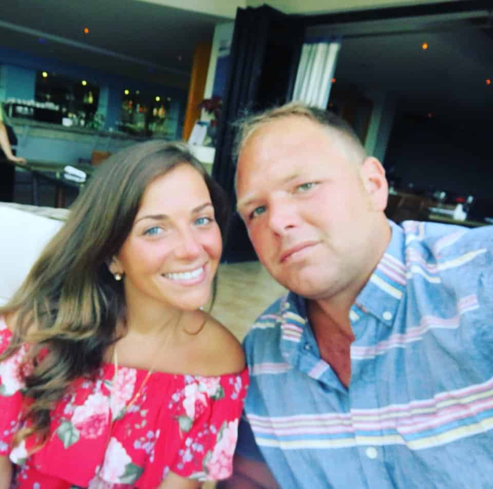 Jonny Candido with his wife on vacation in Portugal.