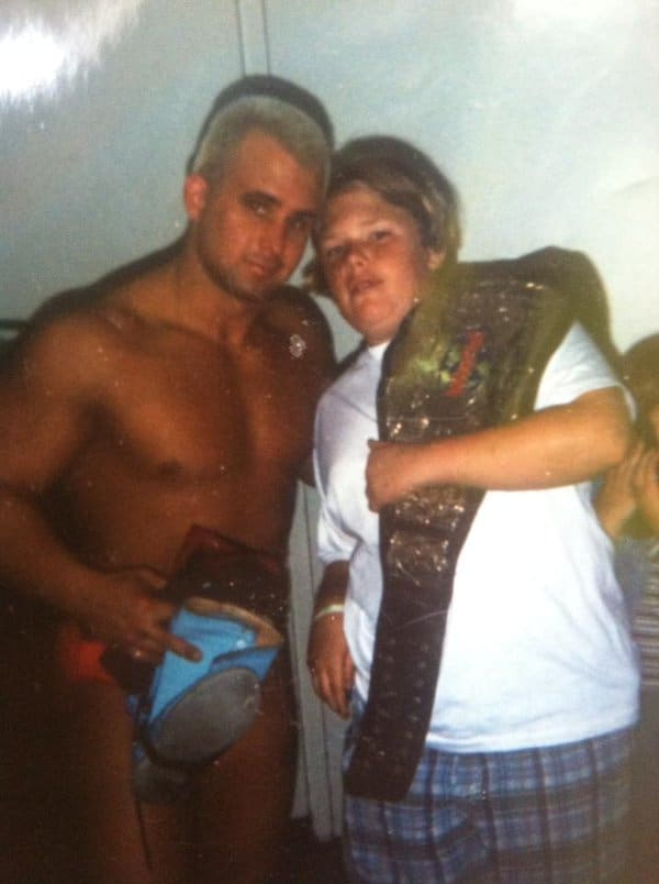 Jonny got to experience life on the road with the wrestlers from a young age with his brother, Chris Candido.