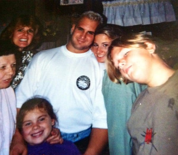 Tammy Sytch, also known as Sunny from her WWE days, with Chris and the Candido family. In happier times, of course.