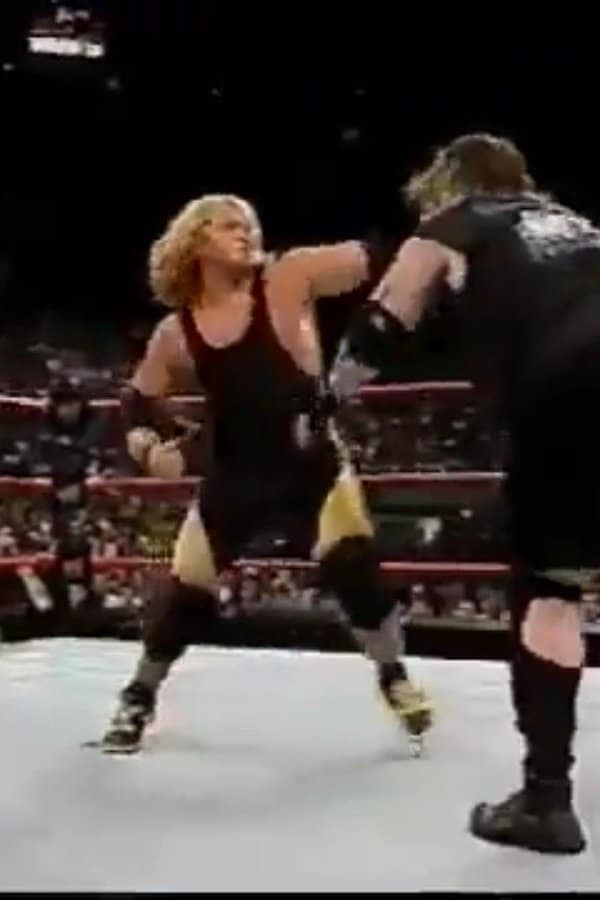 Jonny Candido duking it out with Balls Mahoney during a WWE dark match.