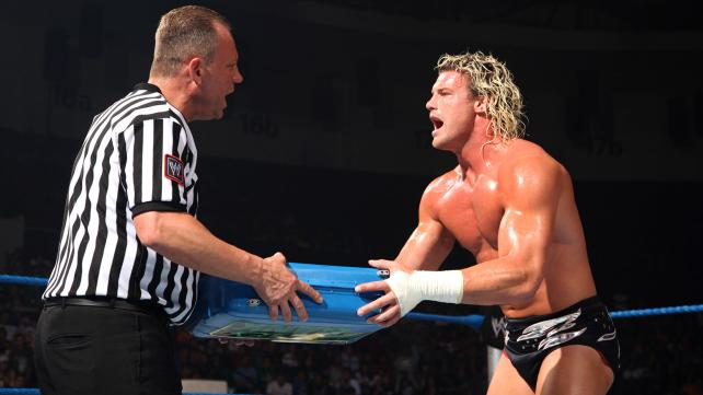 Dolph Ziggler cashes in his Money in the Bank briefcase