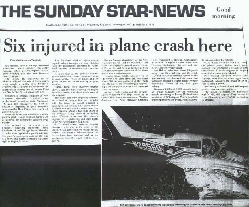 The Sunday Star Newspaper Article on the Plane Crash