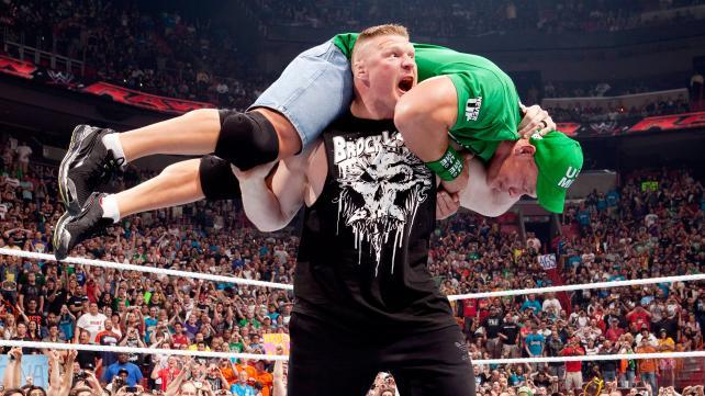 The 2012 Brock Lesnar return to WWE