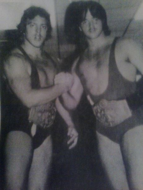 Ricky and Robert (Ruben) Gibson tag team wrestlers in southeastern wrestling