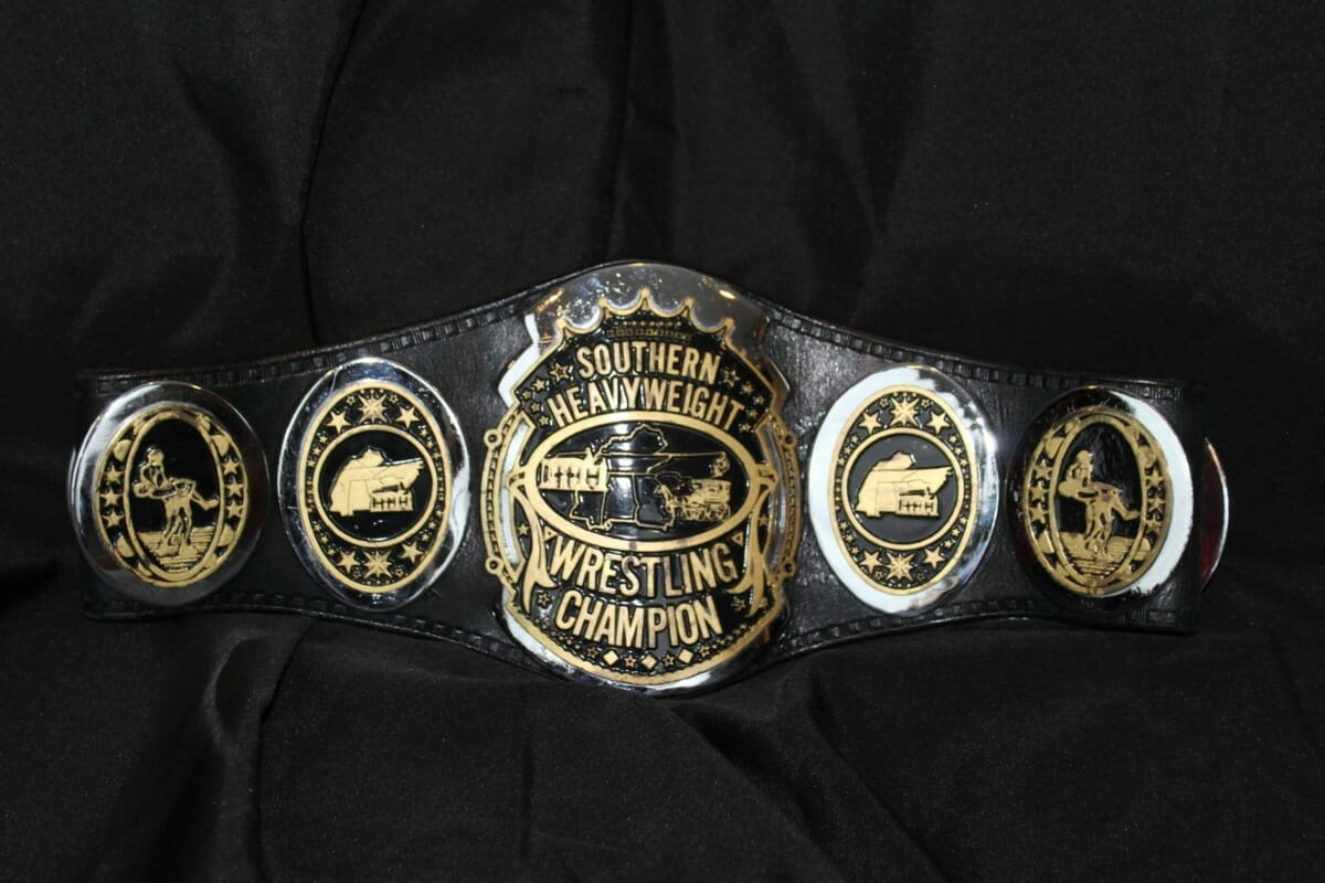 Black and Gold Southern Heavyweight Champion Title Belt