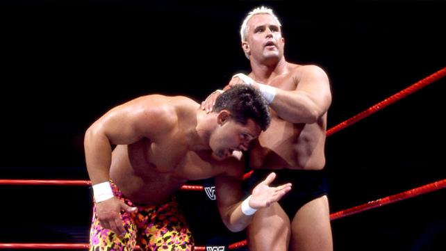 Before the death of Chris Candido he shows off in the ring with wrestler gripping him from the back of the head