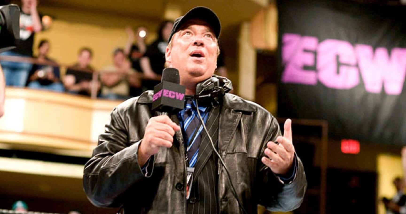 Jonny Candido on the ECW microphone