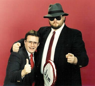 Jim Cornette and Big Bubba Rogers (Big Boss Man).