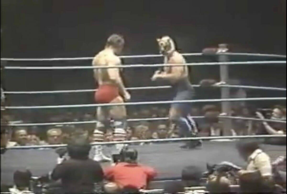 1982 Dynamite Kid and Tiger Mask wrestling at Madison Square Garden