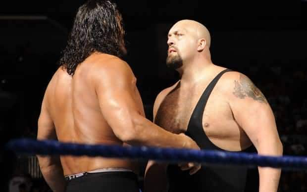 The Great Khali vs The Big Show staring each other down in the ring