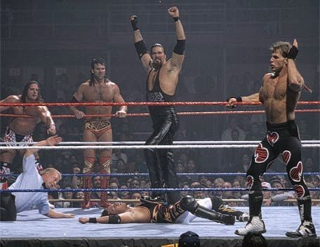 The British Bulldog with 4 out of the 5 Kliq members, 1994