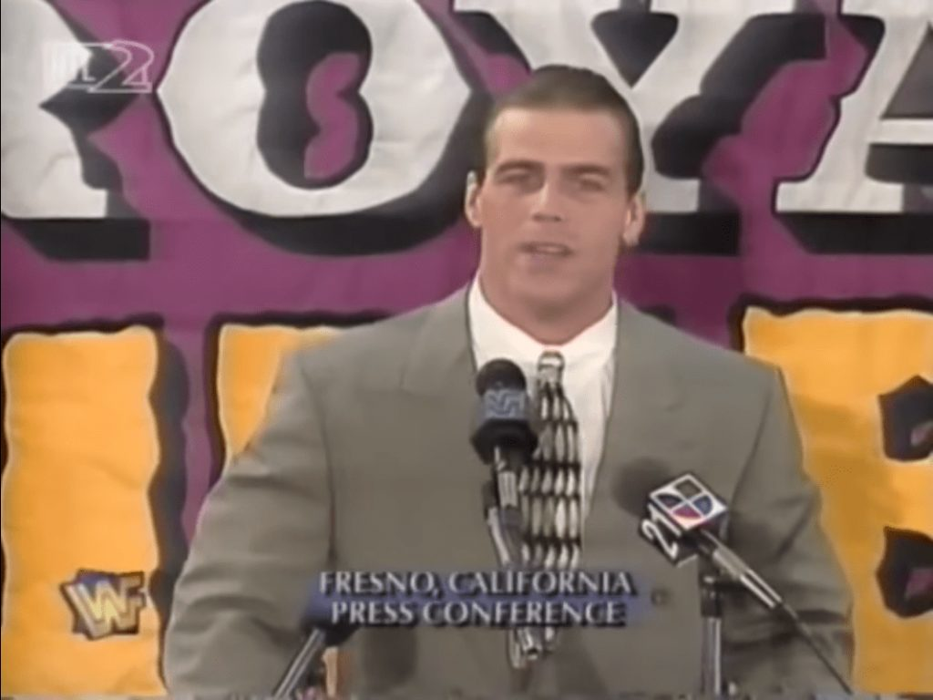Shawn Michaels in 1996 during a press conference in Fresno California
