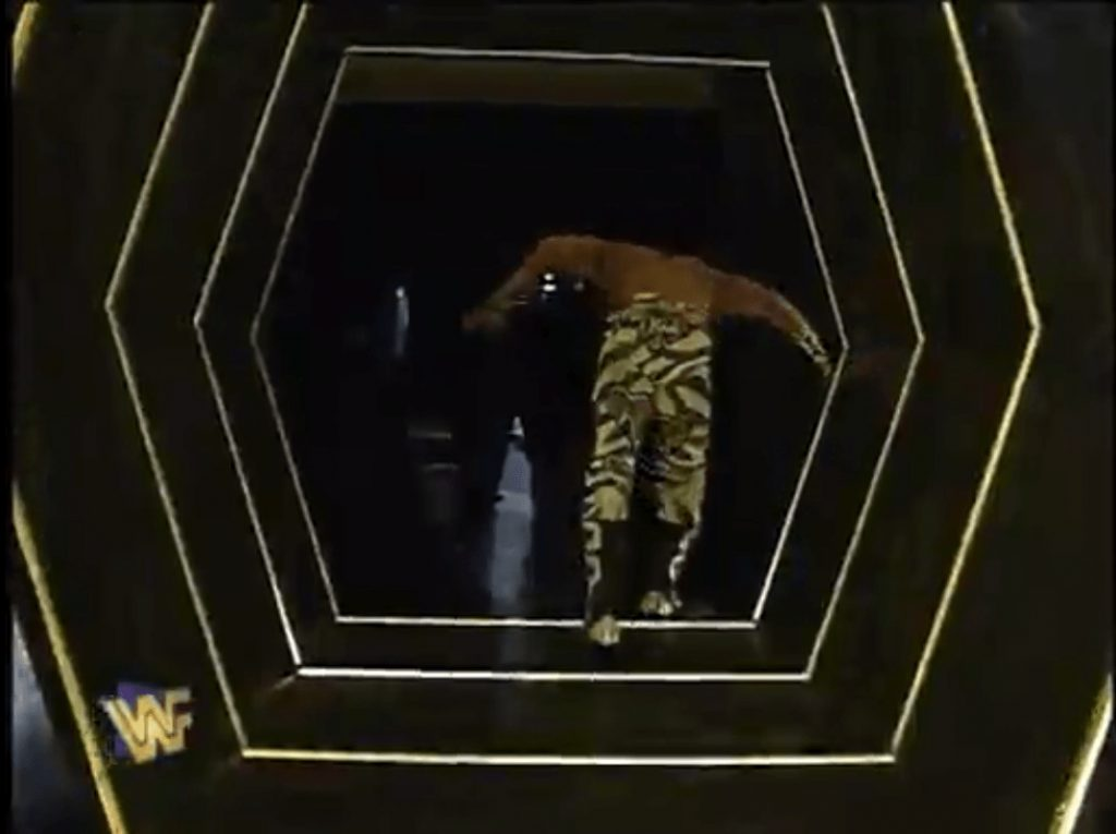 Shawn Michaels in 1996 exiting the arena