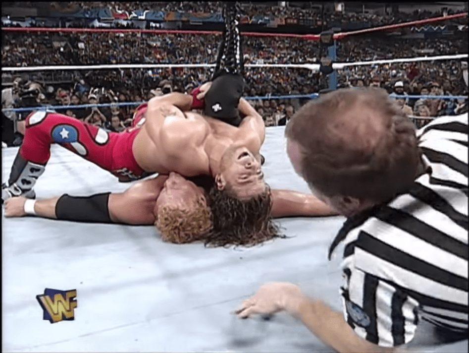 Shawn Michaels pins Sycho Sid at the 1997 Royal Rumble