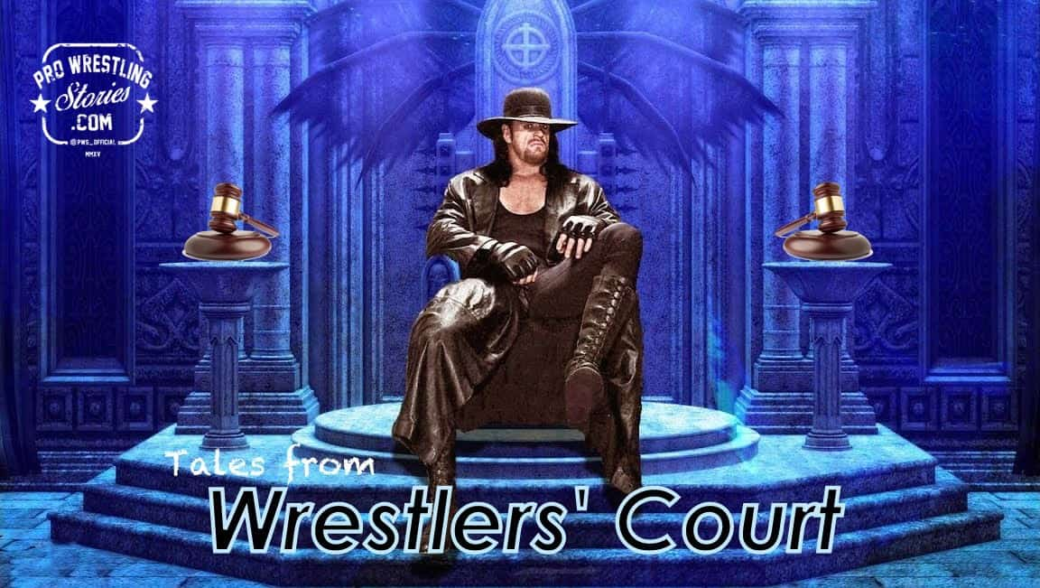 Mockup of the Undertaker sitting as the Judge in Wrestlers' Court