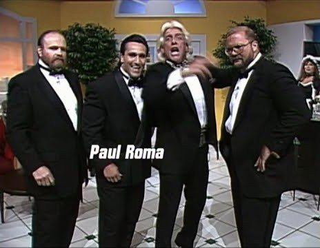 Wrestling Tag Team 4 Horsemen (1993 Paul Roma version) all in black tuxedos