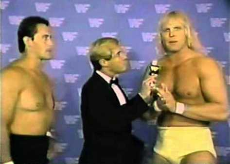 The American Express (as Mike Rotunda and Dan Spivey) talking to a commentator
