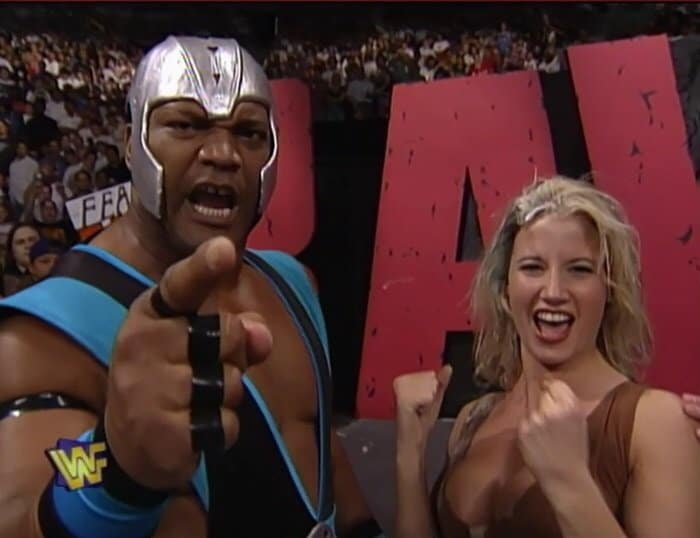 Farooq Asad with Sunny on Monday Night Raw, 1997