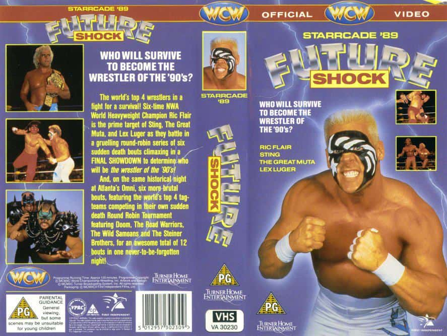 VHS cover of Starrcade '89: Future Shock, which took place at The Omni Coliseum on December 13, 1989