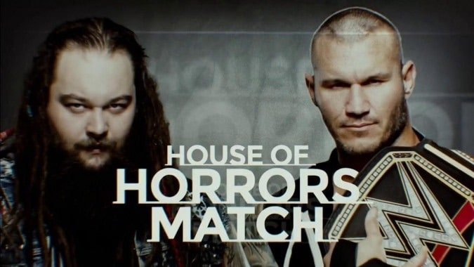 Wrestling Stipulations Never Used Again - A promo photo featuring Bray Wyatt and Randy Orton for their House of Horrors Match which took place at April 30, 2017's Payback pay-per-view
