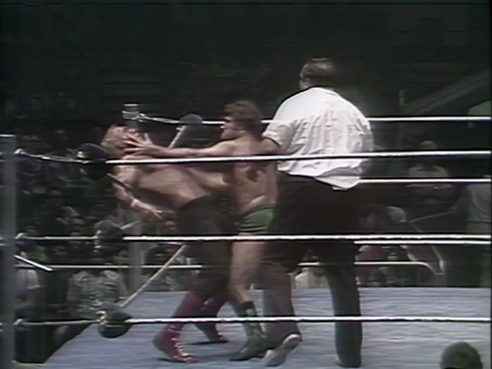 Superstar Billy Graham vs Bruno Sammartino with guest referee Gorilla Monsoon, WWWF at Madison Square Garden, New York, NY, August 1st, 1977
